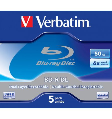 Verbatim BD-R DL 50GB 6x 5pk JC