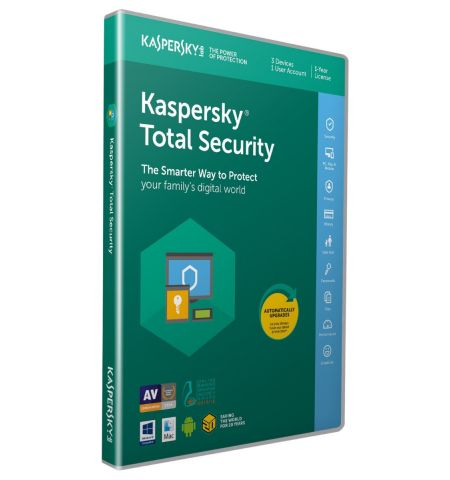 Kaspersky Total Security 2020 | 3 Devices | 1 Year | PC/Mac/Android | Activation Code in Standard Packaging