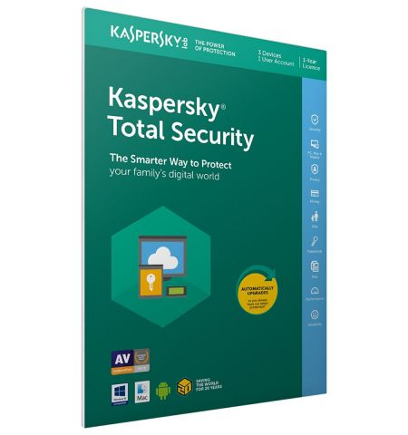 Kaspersky Total Security 2020 | 3 Devices | 1 Year | PC/Mac/Android | Activation Code in Frustration Free Packaging