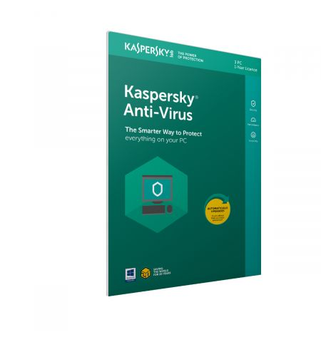 Kaspersky Antivirus 2020 3 Device 1 Year in Frustration Free Packaging