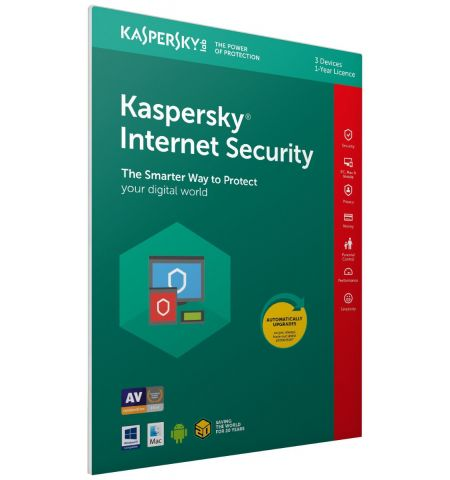 Kaspersky Internet Security 2020 | 3 Devices  1 Year | PC/Mac/Android | Activation Code in Frustration Free Packaging