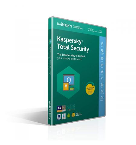 Kaspersky Total Security 2020 | 5 Devices | 1 Year | PC/Mac/Android | Download