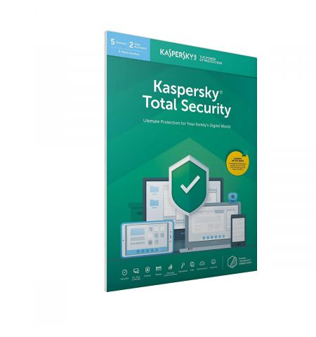 Kaspersky Total Security 2020 5 Devices, 2 Years in Frustration Free Packing
