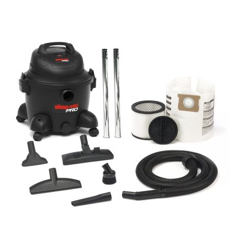Shop Vac 9273124 Pro Plastic Wet-Dry Vacuum Cleaner, 25 Litre, 1800 W, Black
