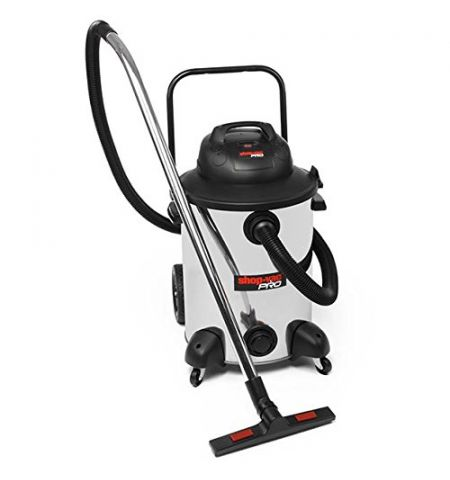 Shop Vac 9273624 Pro Vacuum Cleaner, Stainless Steel, 1800 W, 60 liters, Silver